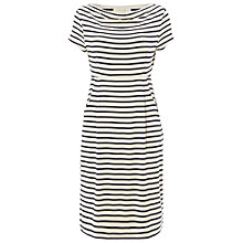 Buy White Stuff Stripe Foliage Dress, Navy Online at johnlewis.com