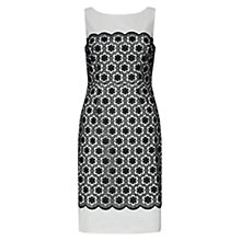 Buy Hobbs Katherine Dress, Navy/Ivory Online at johnlewis.com