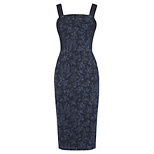 Buy Oasis Printed Pencil Dress, Denim Online at johnlewis.com
