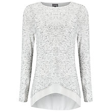 Buy Phase Eight Zannie Space Dye Top, Grey/Ivory Online at johnlewis.com