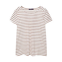 Buy Violeta by Mango Striped T-Shirt, Natural White Online at johnlewis.com