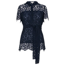 Buy Whistles Fraia Lace Shirt Dress, Navy Online at johnlewis.com