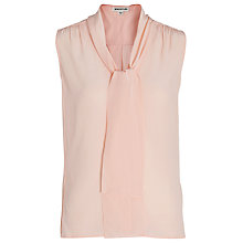 Buy Whistles Silk Scarf Neck Blouse, Pale Pink Online at johnlewis.com