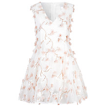 Buy True Decadence Mesh 3D Floral Skater Dress, White Online at johnlewis.com