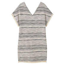 Buy Mango Textured Cotton Dress, Pastel Grey Online at johnlewis.com