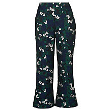 Buy Whistles Jacquard Pansy Print Trousers, Navy Online at johnlewis.com