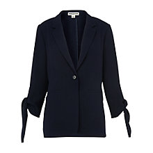 Buy Whistles Tie Cuff Soft Jacket, Navy Online at johnlewis.com