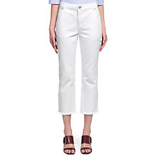 Buy Whistles Relaxed Straight Jeans, White Online at johnlewis.com