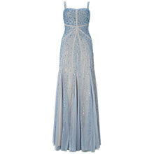 Buy Adrianna Papell Sleeveless Fully Beaded Gown, Sky Blue Online at johnlewis.com