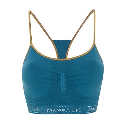 Manuka Seamless String Bra Top, Steel/Gold
