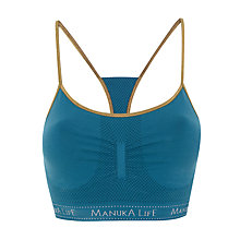 Buy Manuka Seamless String Bra Top, Steel/Gold Online at johnlewis.com
