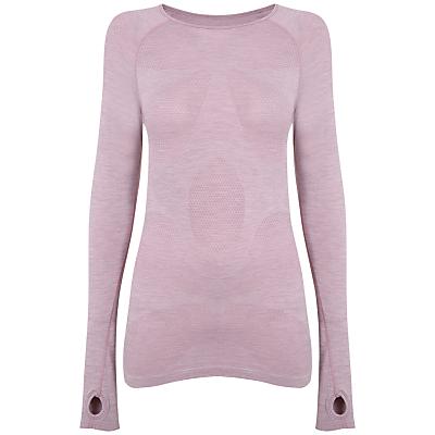Manuka Long Sleeve Flower Mesh Top, Pink