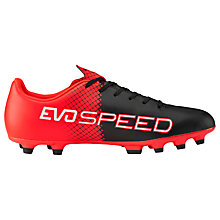 Buy Puma Evospeed 5.5 FG Football Boots, Black/Multi Online at johnlewis.com