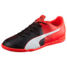 Buy Puma Evospeed 5.5 IT Football Boots, Black/Red Online at johnlewis.com