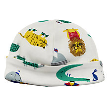 Buy Baby Joule Zoo Animals Hat, Cream Online at johnlewis.com