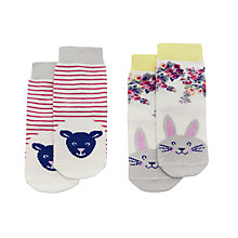 Buy Baby Joule Cuddly Animals Socks, Pack of 2, Assorted Online at johnlewis.com