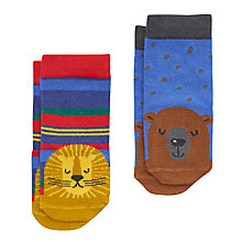 Buy Baby Joule Big Furry Animals Socks, Pack of 2, Assorted Online at johnlewis.com