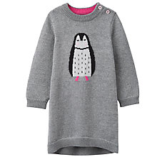 Buy Baby Joule Penguin Knitted Dress, Silver Online at johnlewis.com