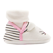 Buy Baby Joule Nippers Cat Slippers, White Online at johnlewis.com