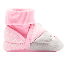 Buy Baby Joule Nippers Owl Slippers, Pink/Grey Online at johnlewis.com