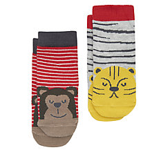 Buy Baby Joule Cheeky Animals Socks, Pack of 2, Assorted Online at johnlewis.com