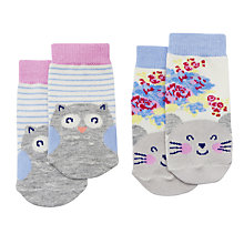 Buy Baby Joule Nocturnal Friends Socks, Pack of 2, Assorted Online at johnlewis.com