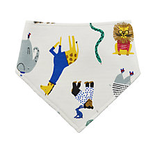 Buy Baby Joule Zoo Animals Bib, Cream Online at johnlewis.com