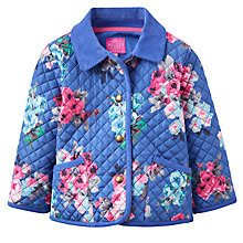 Buy Baby Joule Mabel Quilt Jacket, Blue Ditsy Online at johnlewis.com