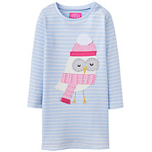 Buy Baby Joule Kaye Owl Jersey Dress, Blue/White Online at johnlewis.com