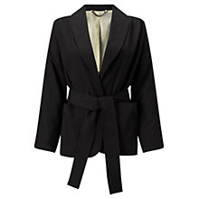 Buy Jigsaw Kimono Wrap Jacket, Black Online at johnlewis.com