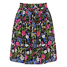 Buy Oasis Chelsea Garden Skirt, Black Online at johnlewis.com