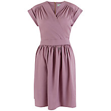 Buy Closet Cross Over Gathered Skirt Dress, Lilac Online at johnlewis.com