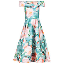 Buy Jolie Moi Floral Organza Prom Dress, Green Online at johnlewis.com