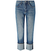 Buy Jigsaw Portobello Turned Up Jeans, Mid Blue Online at johnlewis.com