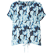 Buy Jigsaw Georgia Flower Tie Silk Top, Ink Online at johnlewis.com