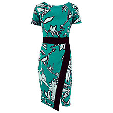 Buy Closet Pop Art Leaf Print Wrap Dress, Green Online at johnlewis.com
