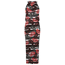 Buy Warehouse Palm Stripe Midi Dress, Multi Online at johnlewis.com