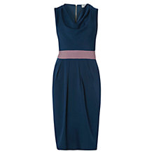 Buy Closet Cowl Neck Contrast Dress, Navy Online at johnlewis.com