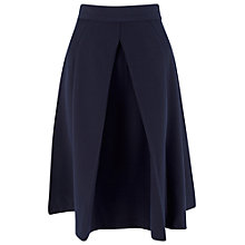 Buy Closet Front Pleat A-line Skirt, Navy Online at johnlewis.com