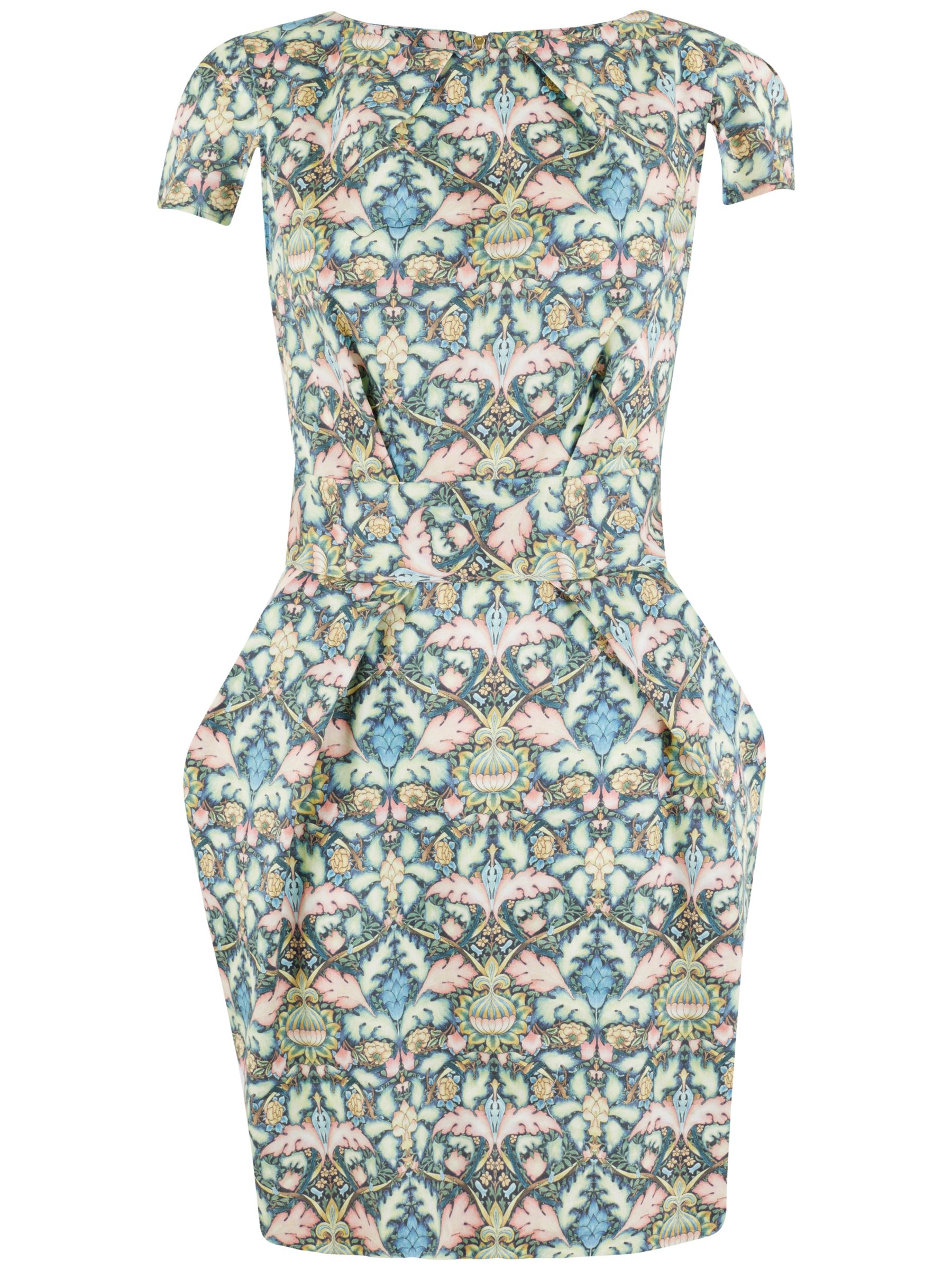 Closet Closet Mirror Print Tulip Dress, Multi