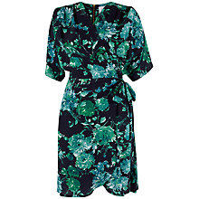 Buy Closet Floral Wrap Dress, Black Online at johnlewis.com