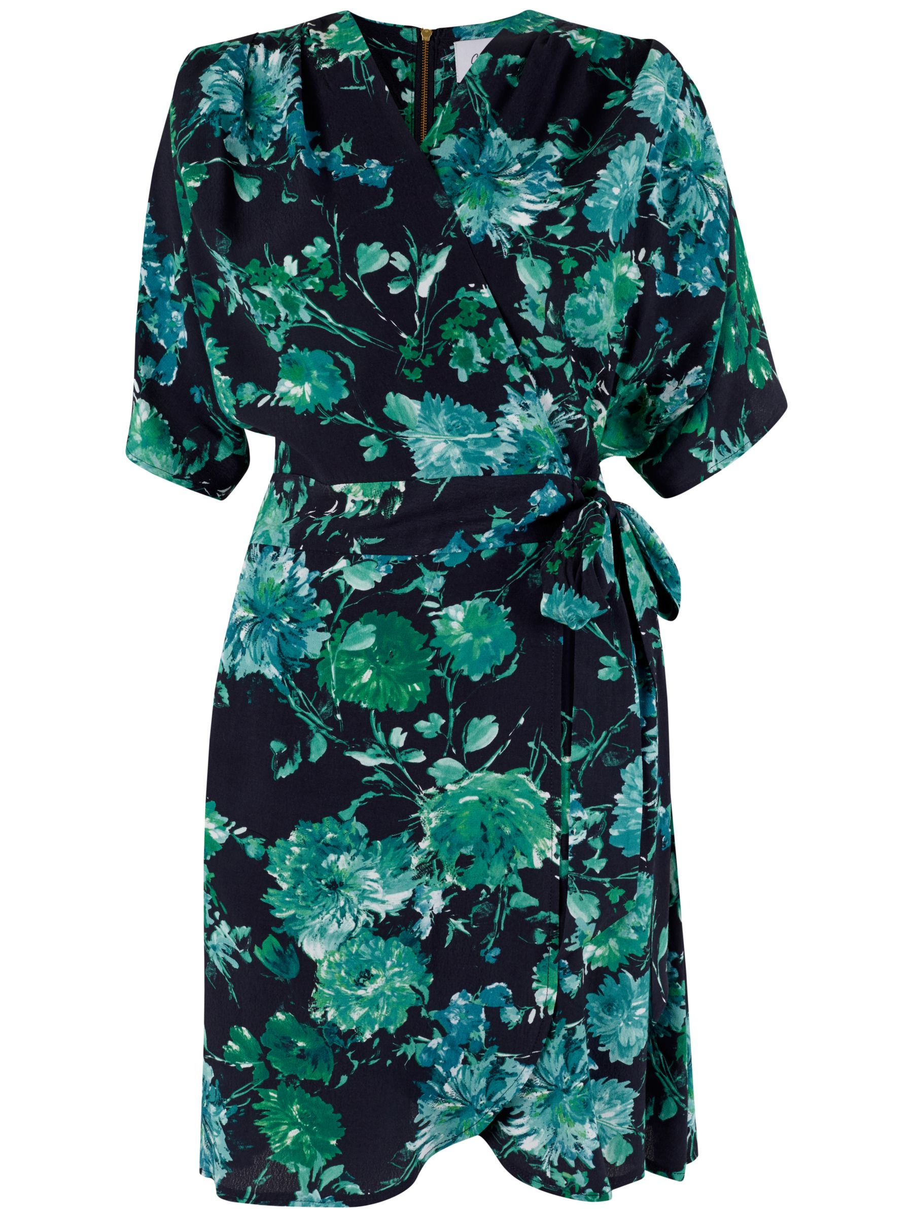 Closet Closet Floral Wrap Dress, Black
