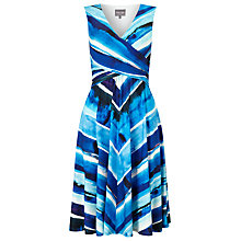 Buy Phase Eight Painterly Stripe Dress, Blue Online at johnlewis.com