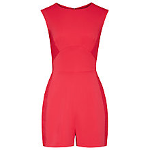 Buy Reiss Maia Contrast Textured Panel Playsuit Online at johnlewis.com