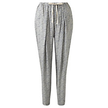 Buy Jigsaw Linear Leaf Trousers, Almond Online at johnlewis.com