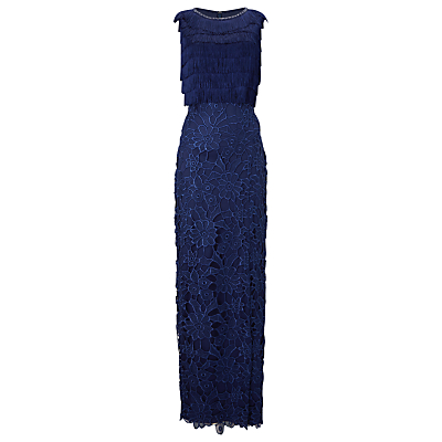 Phase Eight Collection 8 Julianna Fringe Full Length Dress, Cobalt
