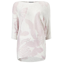 Buy Phase Eight Butterfly Print Becca Batwing Jumper, Pink Online at johnlewis.com