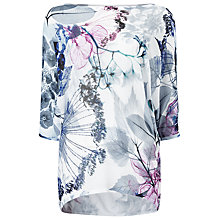 Buy Phase Eight Floral Becca Batwing Jumper, White/Multi Online at johnlewis.com