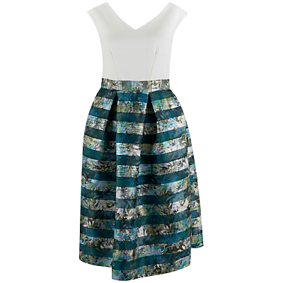 Closet 2 in 1 Organza Skirt Dress, Multi