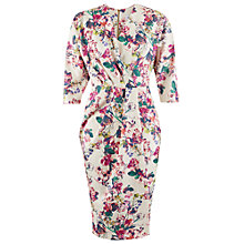 Buy Closet Floral Print Scuba Wrap Dress, Multi Online at johnlewis.com